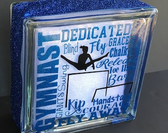 Gymnastics Glass Block Decor