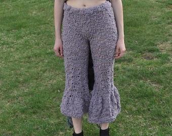 Hand Knit Bell Bottom Crop Pants