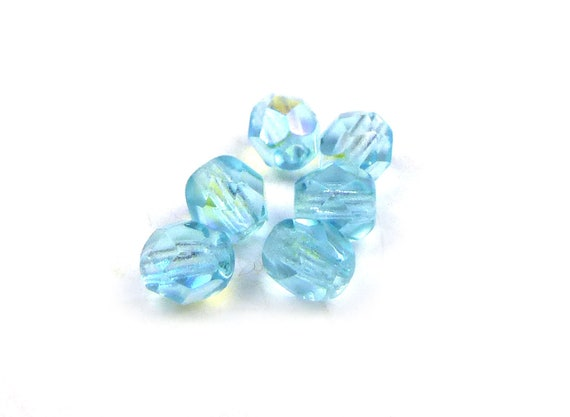 Alexandrite Luster 50  4 x 4 mm Czech Glass Cube Beads