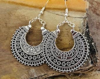 Ethnic earrings, boho jewelry, ethnic jewelry, boho