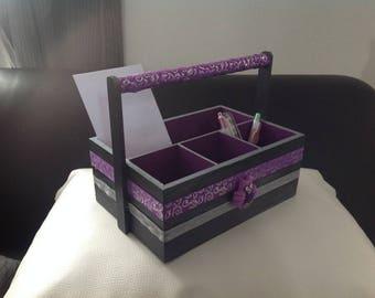 Basket of arrangement, Limps with arrangement, wooden, utensils kitchen, utensils lounge, office, Owl