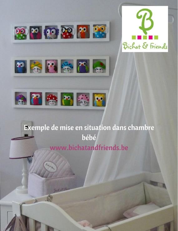 Deco chambre enfant, cadre mural, rose, gris, lila, jaune, mauve ...