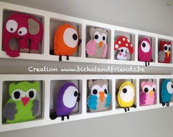 Children's room, birthday gift, colorful wall decor, custom-made