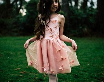 3D Butterfly embellished dress
