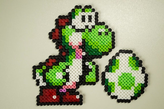 Items Similar To Yoshi Super Mario World Pixel Art Gaming Deco