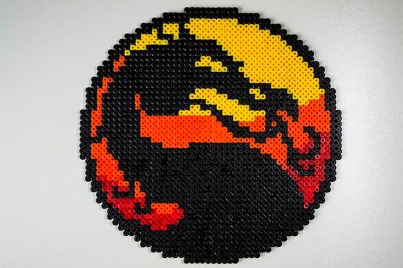 Items Similar To Mortal Kombat Logo Mortal Kombat Pixel