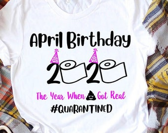 April Birthday Svg Etsy