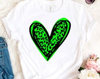 Patricks Day Leopard Heart SVG St Green Heart Svg Patrick/'s Day Svg St Cheetah Animal Pattern Print Cut File Cricut Svg Dxf Png