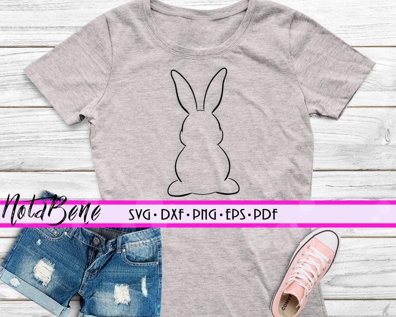 Easter Bunny Frame SVG Bunny Svg Cut file Rabbit svg Easter SVG Easter bunny Tail svg Frame Monogram svg Cricut Htv Cut file Svg Png Dxf