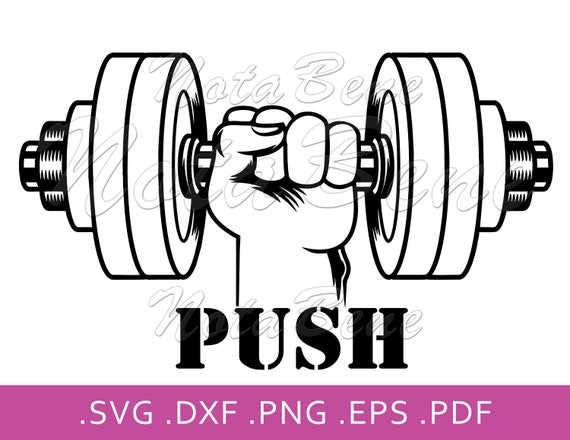 Weights Svg Dumbell Svg Dumbell Clipart Dumbell In Hand Svg Fitness Svg Dumbell Cut Files Dumbell Files For Cricut Pdf Dxf Eps Png