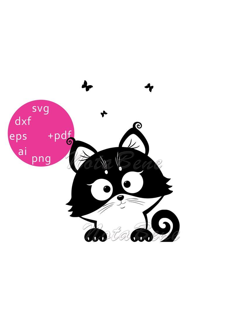 Download Cute Little Kitten SVG Cat DXF Digital Download Cricut | Etsy