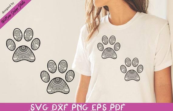 Zentangle Cat Paws Svg Dog Paw Mandala Svg Pet Lover Art Svg Etsy