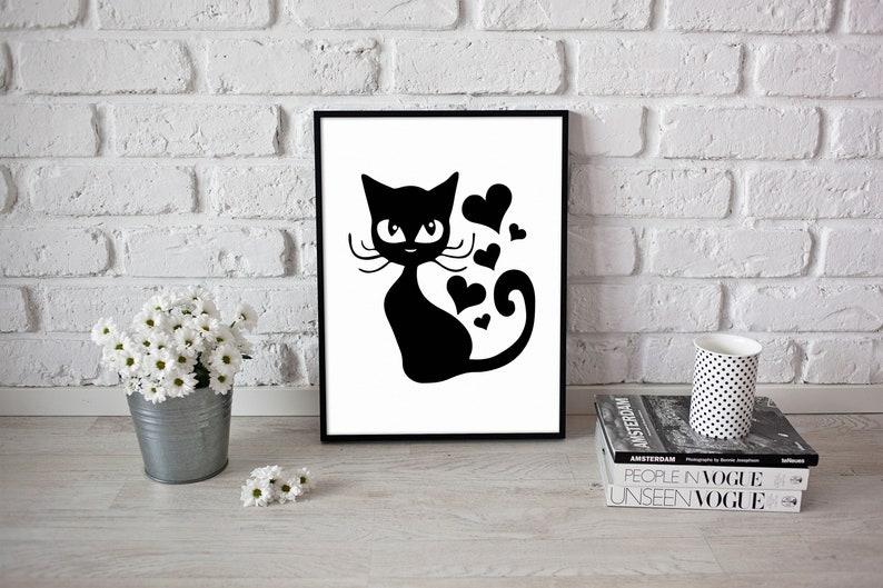 Download Cute Kitten SVG Cat DXF Digital Download Cricut Silhouette ...