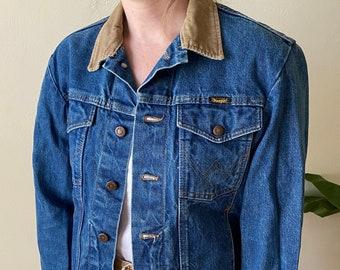 Mens\u2019s Vintage Lee Set 70s Blue Denim Workwear Hippie Jacket M 38 R10074