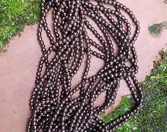 Dark Bronze Fire Polish Round Beads 3mm (100 ct)