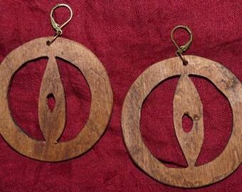 Rustic wood Earrings: Goths