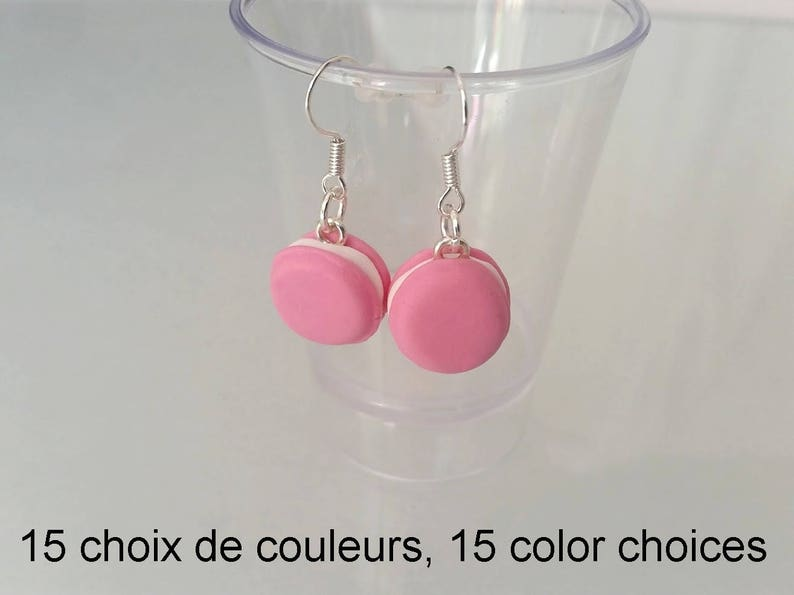 macaroon 0,55 inch Earrings 15 colors to choose from.