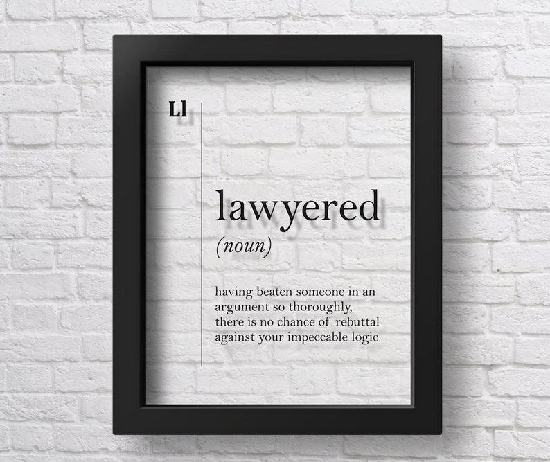 TRANSPARENT Lawyered Definition Lawyer Gift Funny Lawyer image 0