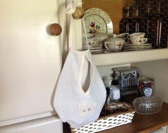 Appendere borsa realizzato in lino vecchio