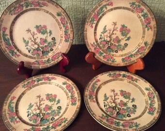 Vintage 4 John Maddock & Sons England Porcelain Plates