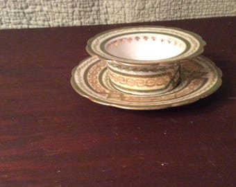 Vintage Imperial Crown Austria Bowl and Saucer