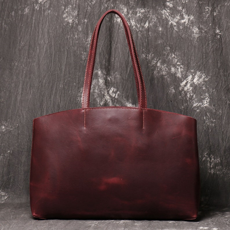 Tote Bag Leather Tote Bag With Pockets Tote Bag for Women Work Tote Gift for Her Womens Gift Leather Bags Tote Women Leather Shoulder Bag