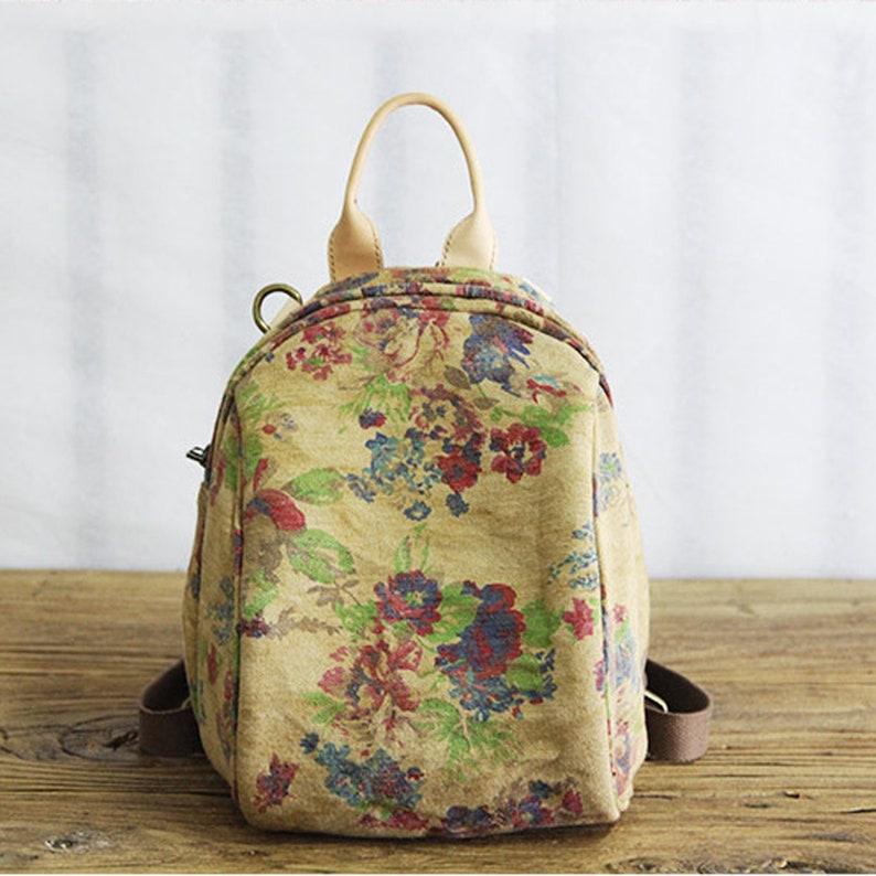 Small Backpack Mini Backpack Convertible Backpack Purse Backpack Women Canvas Rucksack Hipster Backpack Shoulder Bag School Bag For Girls
