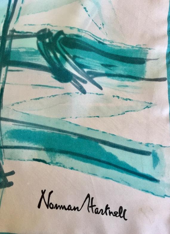 Norman Hartnell Silk Scarf. - image 4