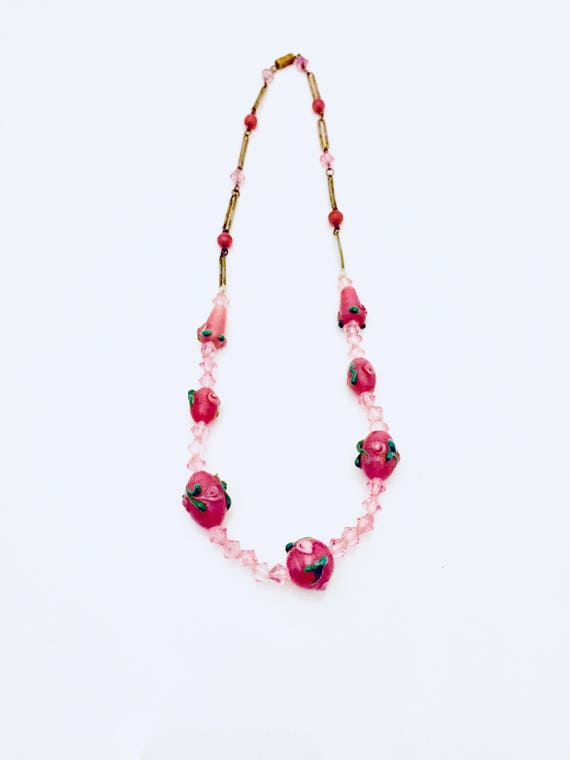 Edwardian Glass Bead Necklace.