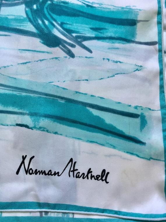 Norman Hartnell Silk Scarf. - image 7