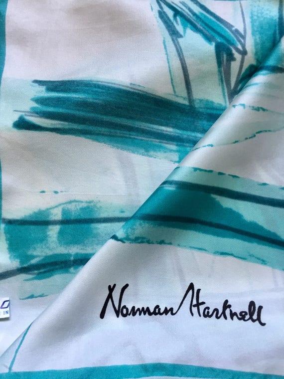 Norman Hartnell Silk Scarf. - image 5