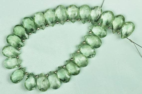 Green Amethyst Amethyst Pear Birthstone Green Amethyst pear 7X9 11X17 mm 155 Carats Green Amethyst Stone Green Amethyst Beads