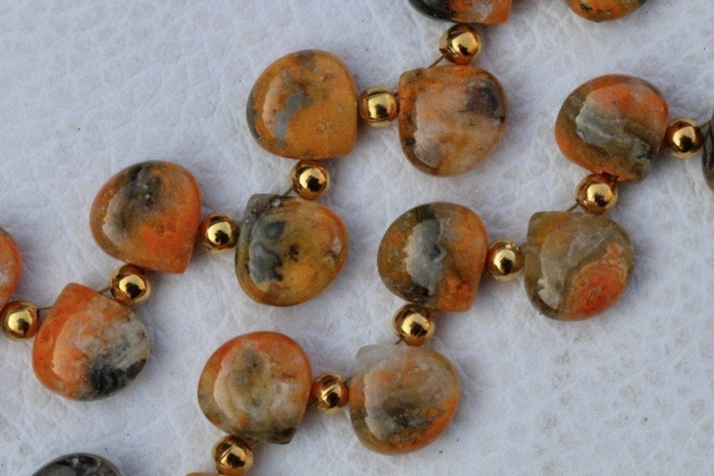 11 x 11 mm approx... Awesome 21 pieces smooth heart BUMBLE BEE STONE briolette beads 10 x 10 Best Arrival