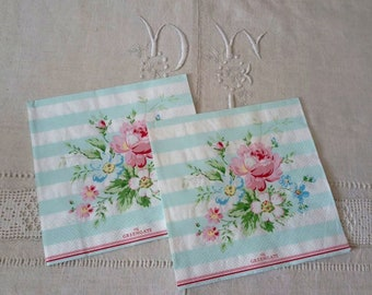 2 paper towels 33 X 33 cm romantic bouquet pattern / paper for serviettage / paper towels for collage
