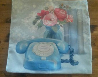 Vintage style pillow cover / 50s