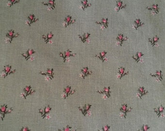 Fabric floral shabby chic and romantic / old pink pattern