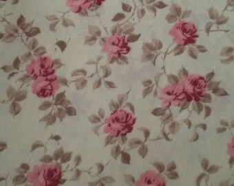 Fabric floral shabby chic / old pink pattern