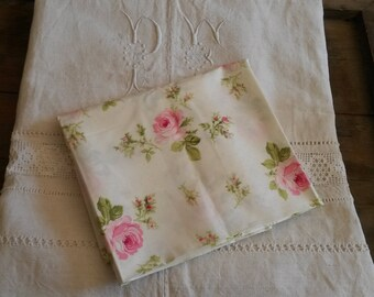 Shabby chic 50 X 50 cm fabric / fabric flower shabby chic / old pink pattern