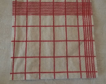 Napkin 32.6 X 32.6 cm cloth red plaid pattern