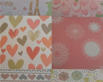 Book of 36 sheets printed for scrapbooking or origami / paper scrapbooking / embellishment