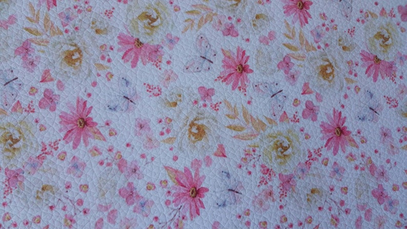 Flowery leather faux sheet  scrapbooking embellishment  scrapbooking card  imitation leather for computer mouse