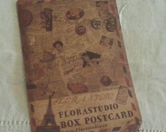 Self-adhesive postcard / vintage / Scrapbook embellishment