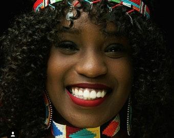 CHOKER, Choker Neckalce, Bohemian Necklace, Zulu Necklace, Bohemian Jewelry, African jewelry, African Necklace, Zulu jewelry, Women Necklace