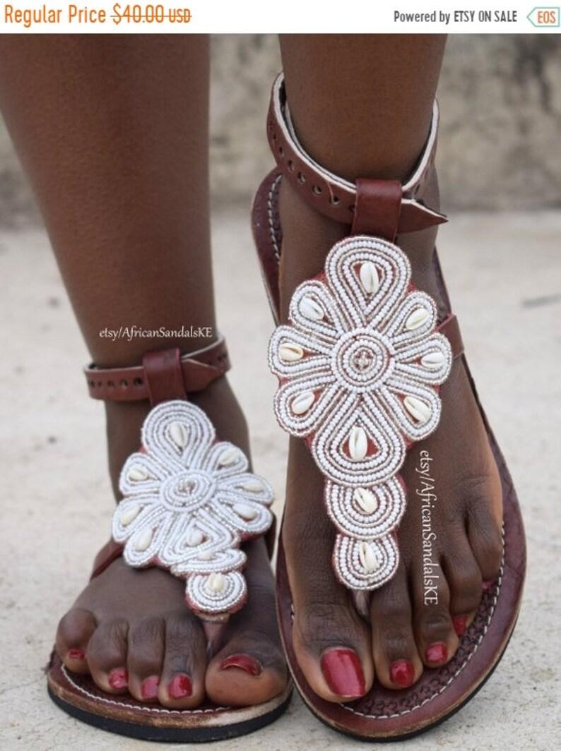 129c04f0c ON SALE LEATHER Sandals African Sandals Greek Sandals Women