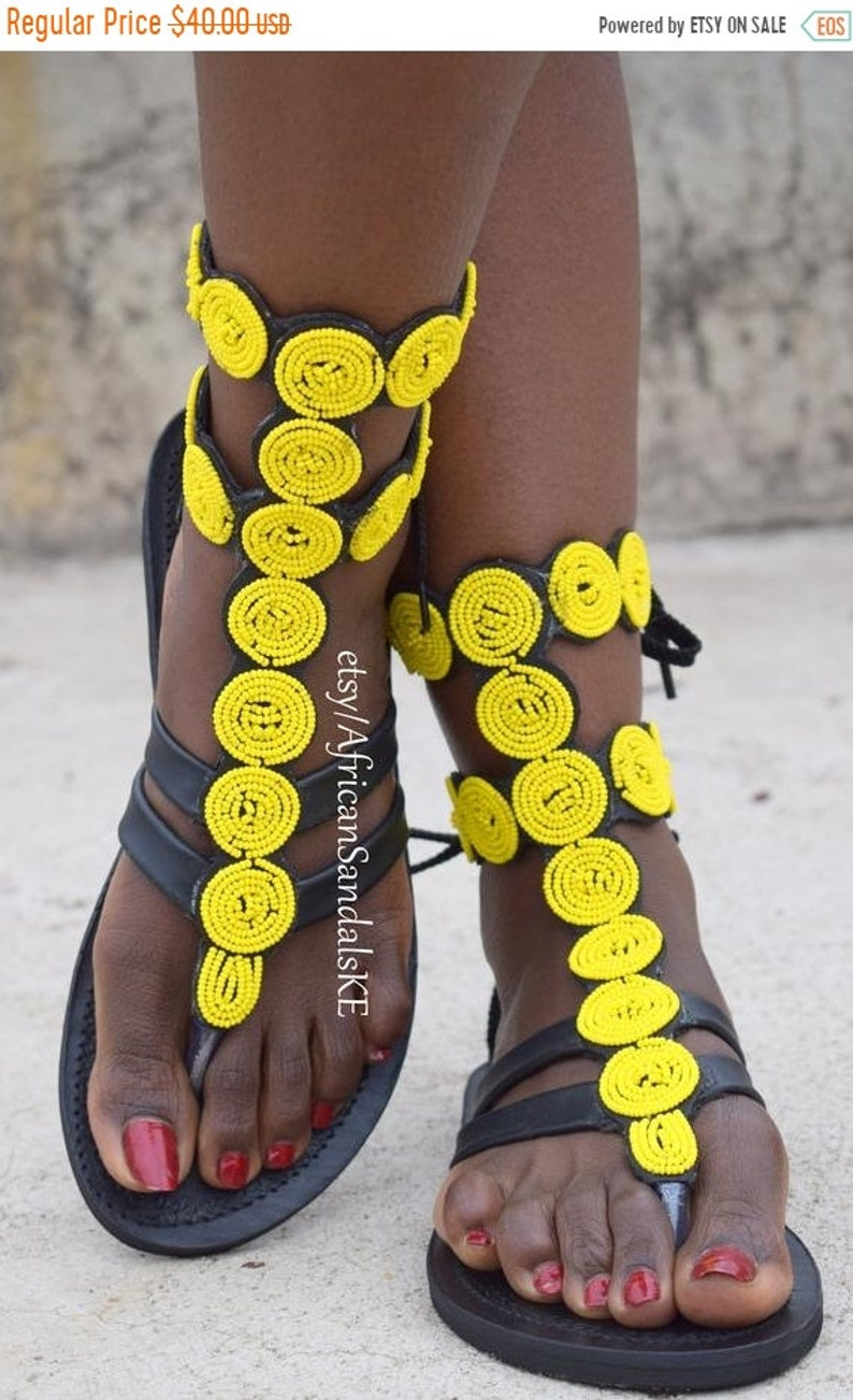 7e2f05967 ON SALE LEATHER Sandals Greek Sandals African Sandals