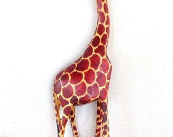 ON SALE WOODEN Giraffe, Wooden Giraffe Gift, Wooden Giraffe Figurine, Wooden Giraffe Decor, Giraffe Decor, Wood Giraffe, Giraffe Figurine, G