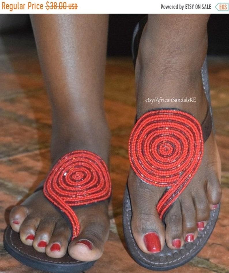 40364247d ON SALE AFRICAN Sandals Leather Sandals Women Sandals