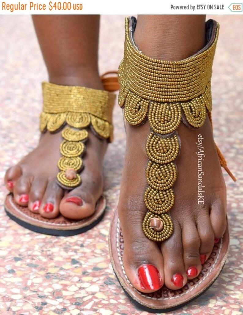0fff75985 ON SALE AFRICAN Sandals Leather Sandals Greek Sandals Women | Etsy
