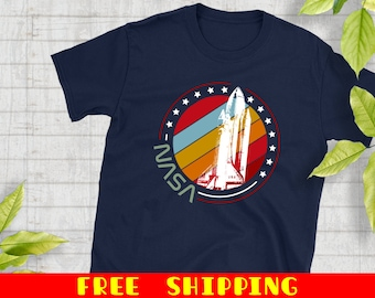 f5ea391c Retro Space Shuttle T-Shirt, Retro Space Shuttle Shirts, Vintage Nasa Tees,  Free Shipping For Nasa Lovers, Space Fans And Astronauts