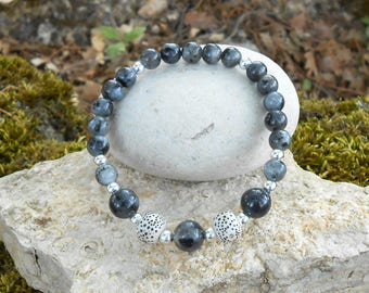 Bracelet beads Labradorite, pearls Nepalese smooth ball beads 925 Silver, women bracelet, gift for her